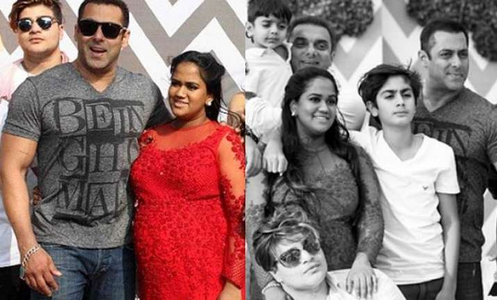Salman Khan at sister Arpita Khan Sharma's baby shower