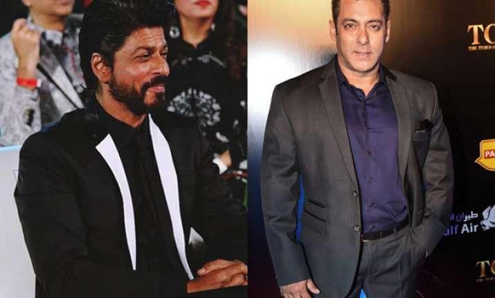 Salman and Shah Rukh Khan in Dubai