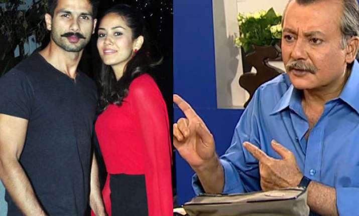 Shahid Kapoor, Mira Rajput and Pankaj Kapur