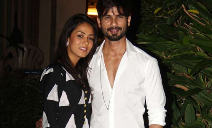 Shahid Kapoor with wife Mira Rajput