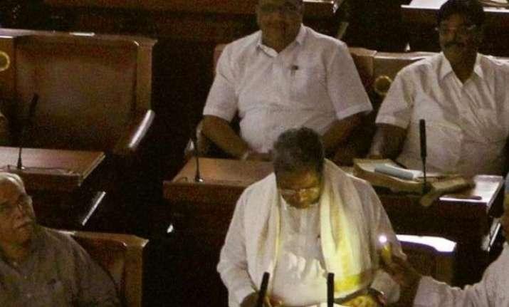 Karnataka CM Siddaramaiah presents state budget in