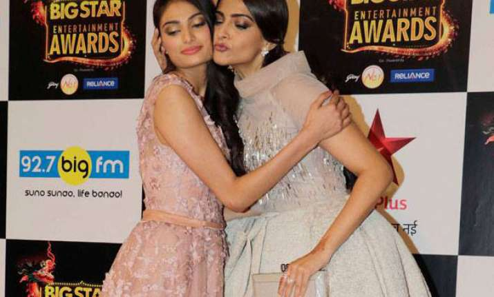 Sonam Kapoor with Athiya Shetty