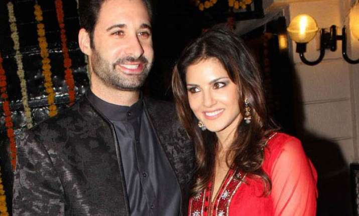 Daniel Weber with Sunny Leone