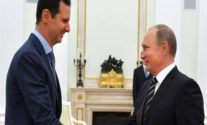 Vladimir Putin congratulates friend Bashar Assad