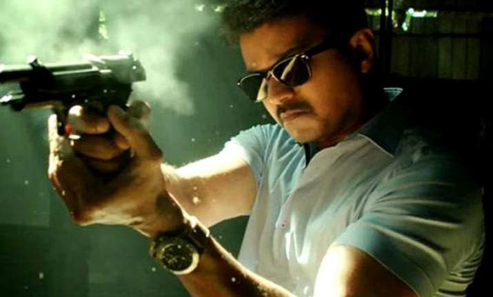 The film features Vijay in the role of a police officer.