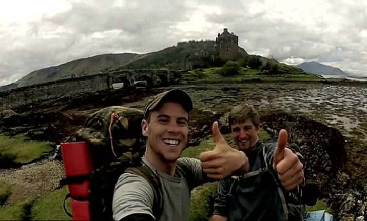 student Travelling in scotland