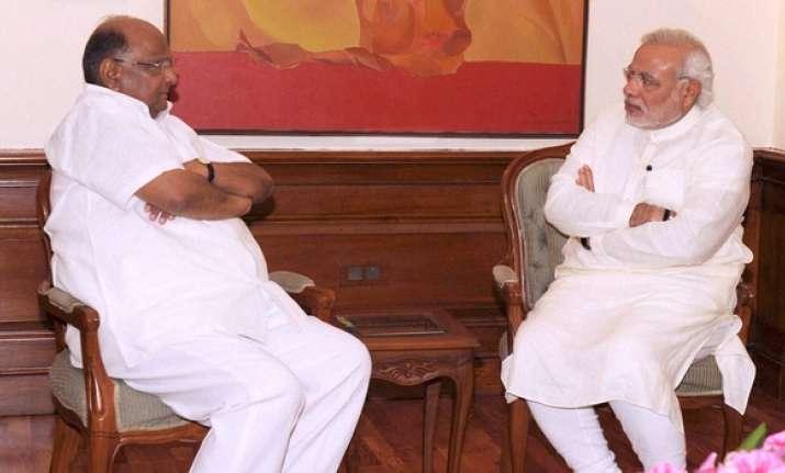 Narendra Modi with Sharad Pawar