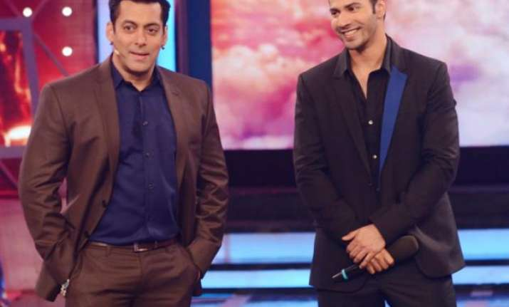 Salman Khan with Varun Dhawan