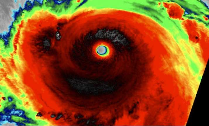 Image shows Meranti as a super typhoon on Monday