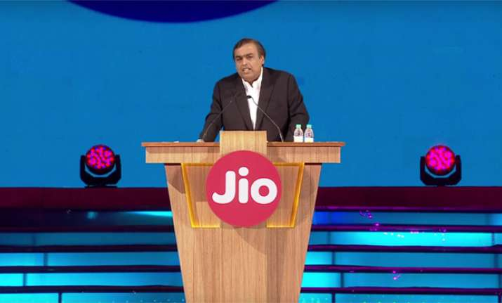 Mukesh Ambani at the launch of Reliance Jio