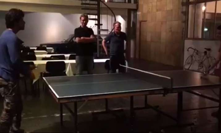 Shah Rukh Khan's super interesting Table Tennis match in