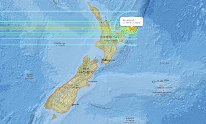 Earthquake off the east coast of New Zealand's North Island