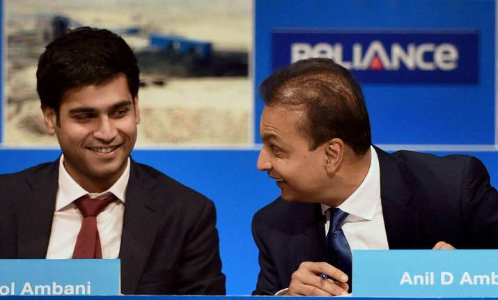 Anil Ambani with his son Jai Anmol Ambani