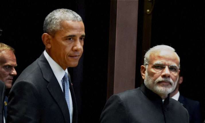 Obama with PM Modi