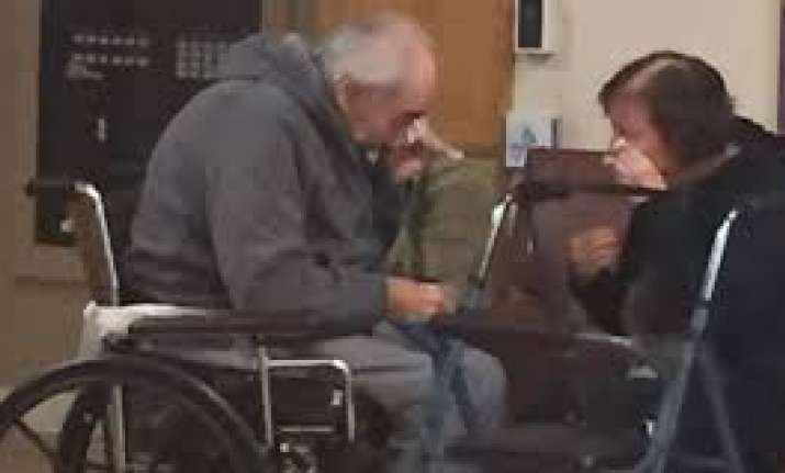 The couple was captured in a heartbreaking photo during