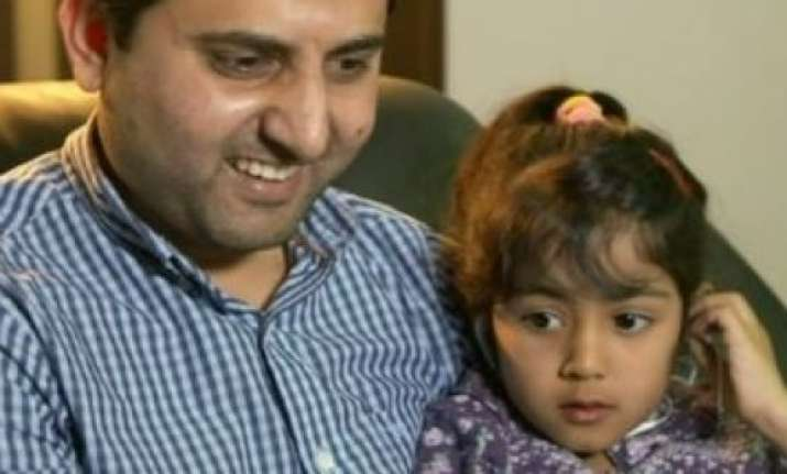 Sarah Patel with her father