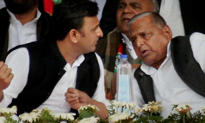 Akhilesh and Mulayam