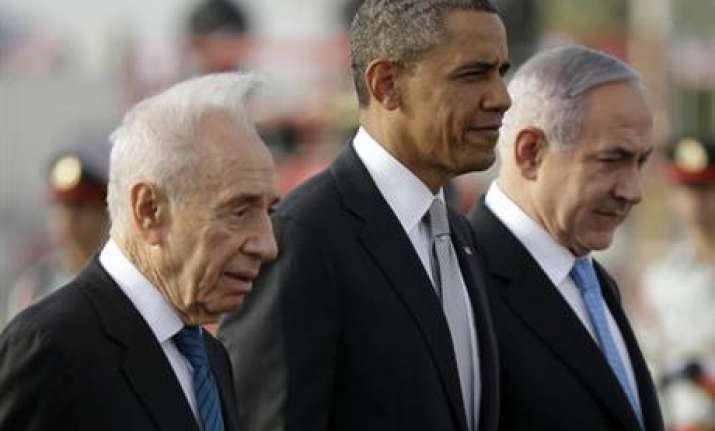Peres with Obama