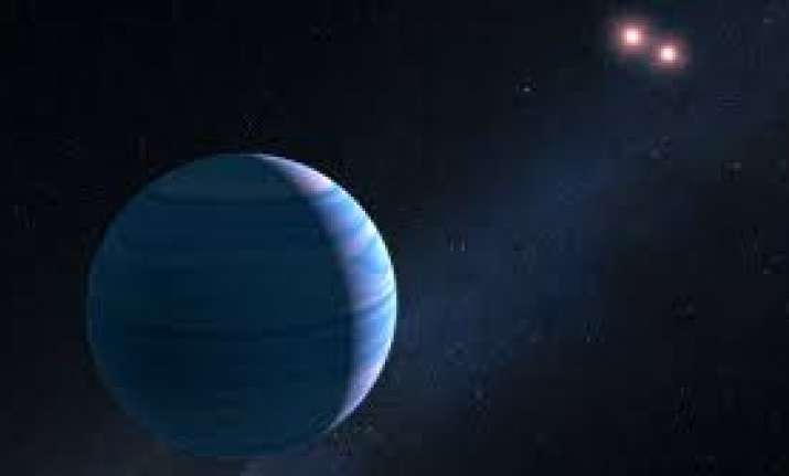 NASA's Hubble space telescope spots a planet orbiting two