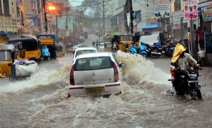 Hyderbad battered with rain