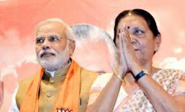 Modi meets Anandiben