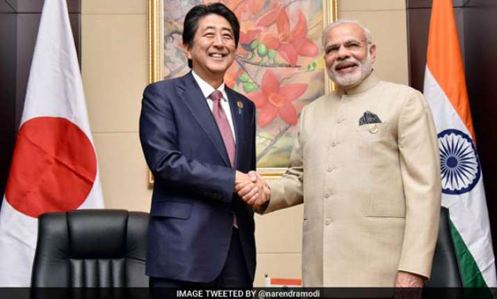 PM Modi with Japanese PM Shinzo Abe