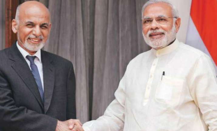 PM Modi with Afghan President Ashraf Ghani