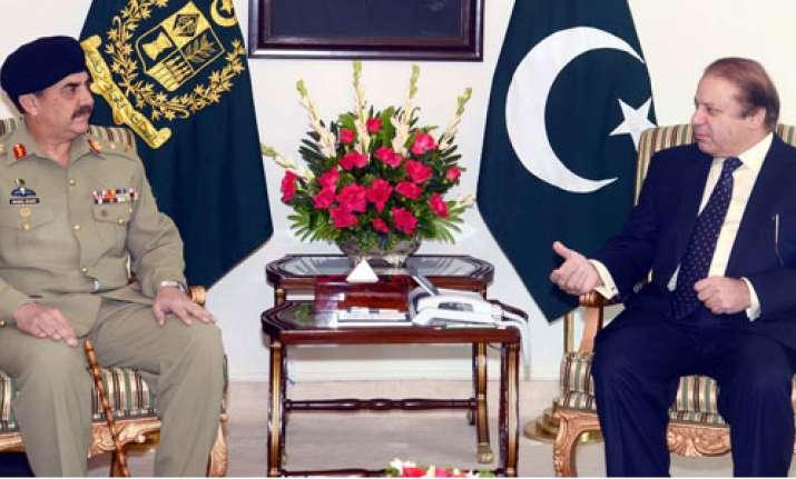 Nawaz Sharif with Pak Army chief