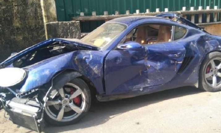 One killed as drunk student rams Porsche into 12