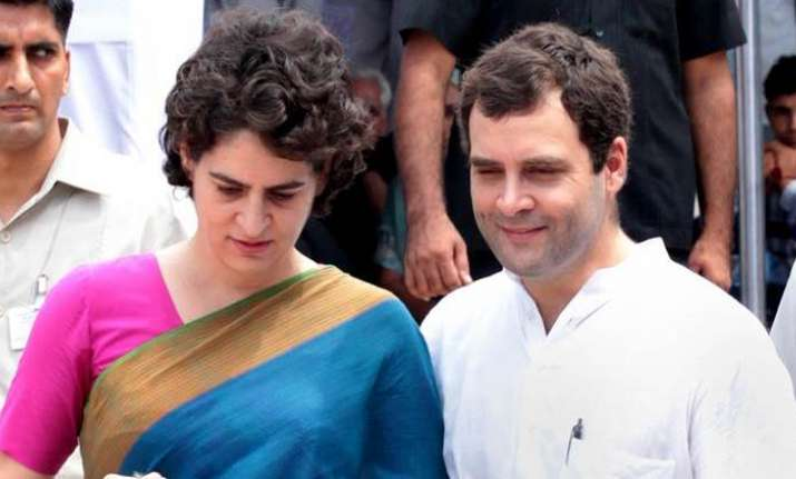 Rahul with priyanka
