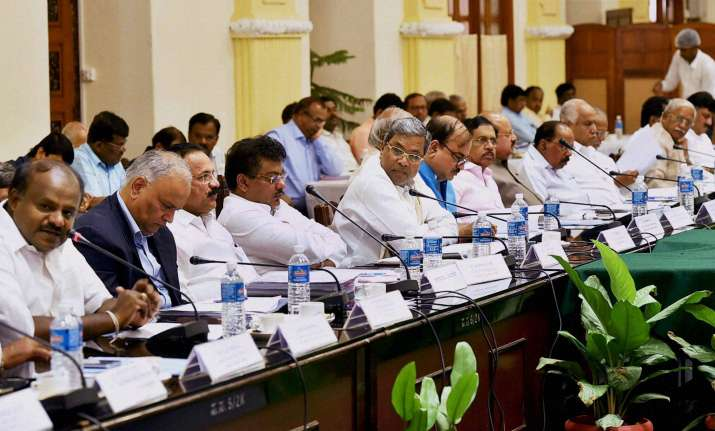 Karnataka CM Siddaramaiah at an All Party Meeting on