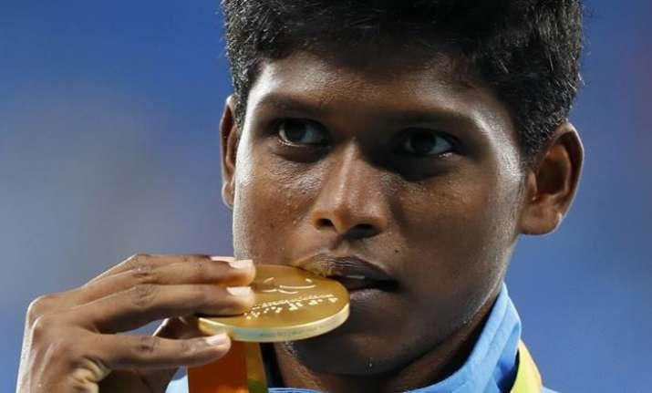 Rio Paralympics gold medallist Mariyappan Thangavelu |