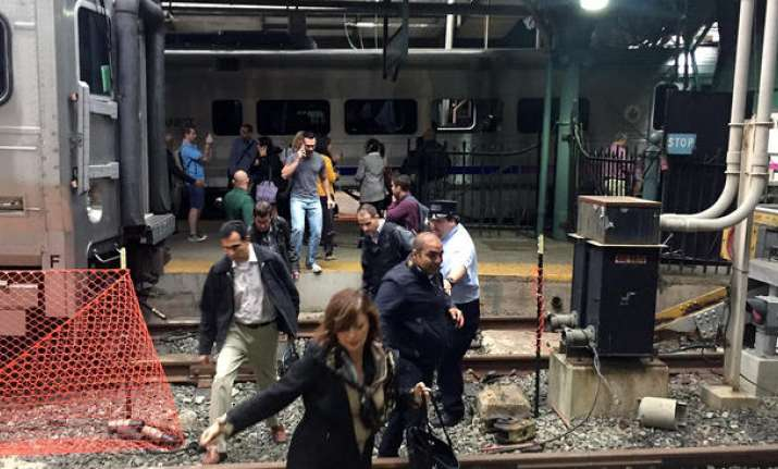 Commuter train crashes in New Jersey