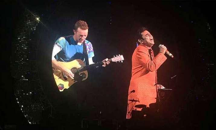 Coldplay's Chris Martin jams with maestro A R Rahman on