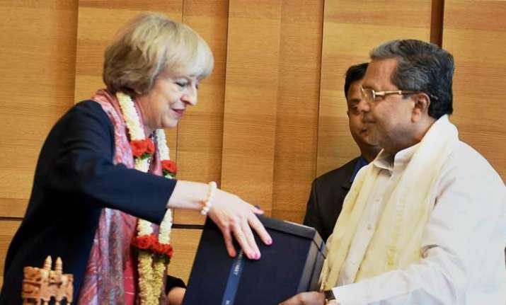 British PM Theresa May and Karnataka CM