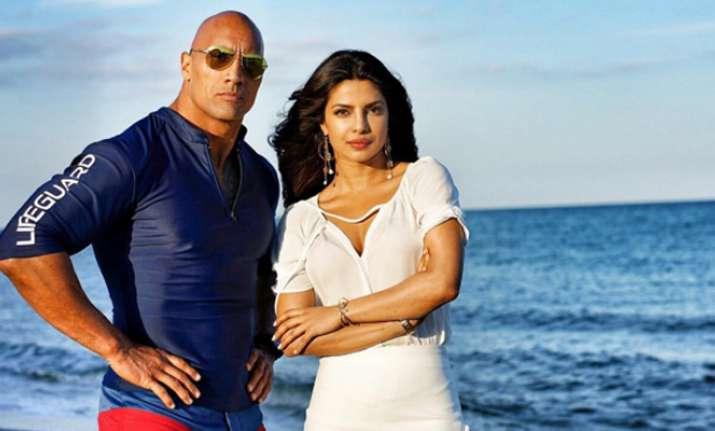 Priyanka Chopra and Dwayne Johnson
