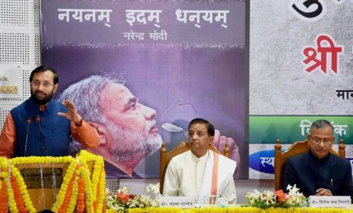 Javdekar releases sanskrit version of PM Modi's poetries