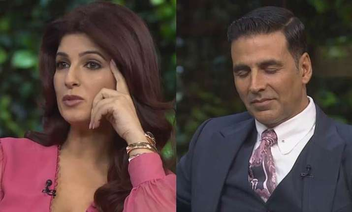 Twinkle Khanna and Akshay Kumar in Koffee with Karan