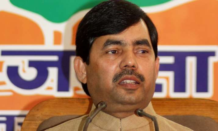 File photo of BJP MP Shahnawaz Hussain