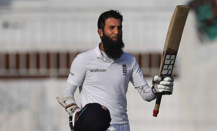 Moeen Ali's ton lifts England to 284/4 on Day 1