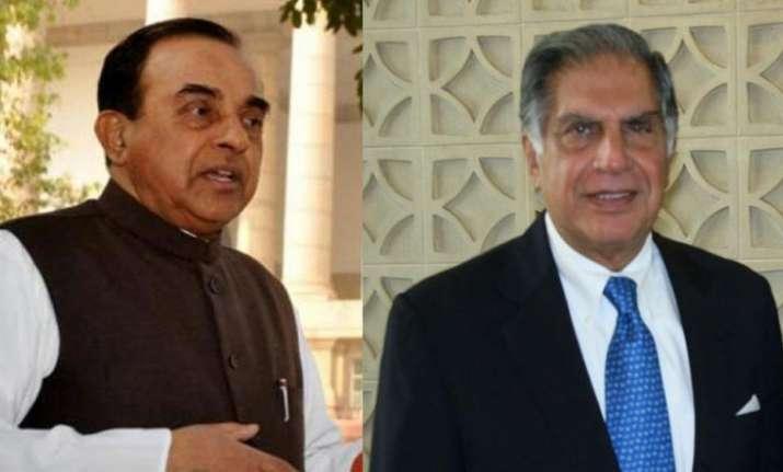 Subramanian Swamy and Ratan Tata