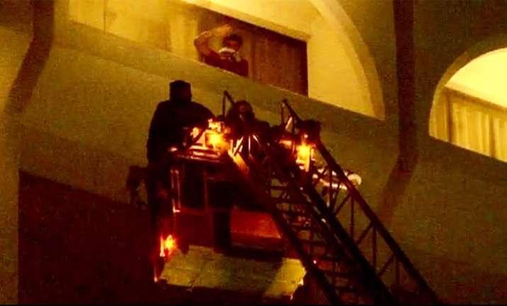 Fire at Karachi Hotel