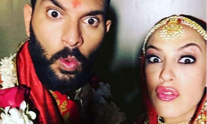 Watch: Newlyweds Yuvraj Singh-Hazel Keech doing bhangra at