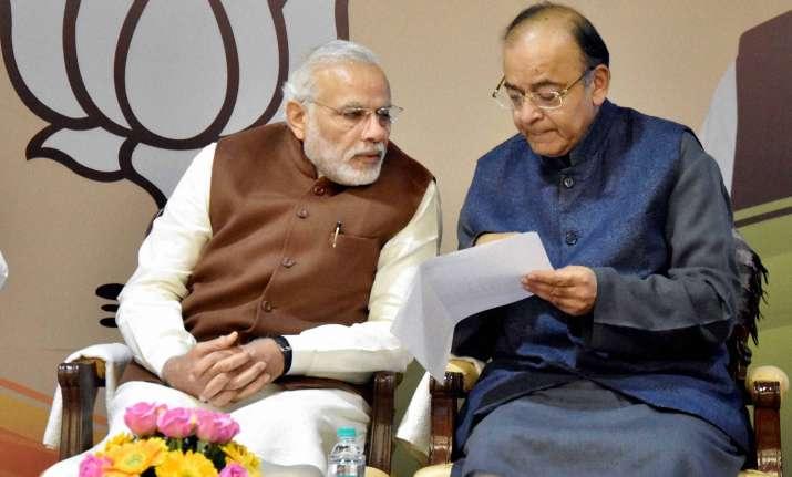 Prime Minister Narendra Modi with Finance Minister Arun