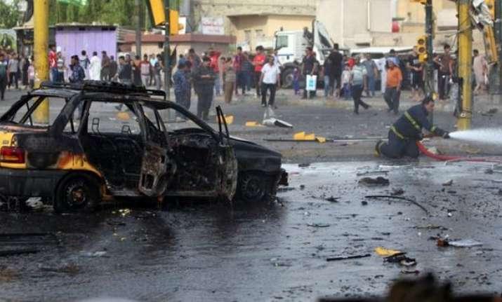 Suicide car bombing rocks Baghdad, leaves 11 dead