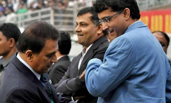 File photo of Suni Gavaskar and Saurav Ganguly