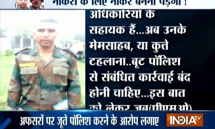 Army jawaan alleges harssment