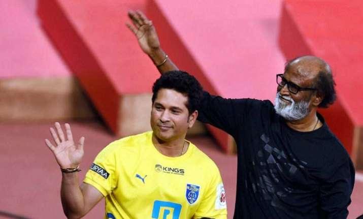Rajinikanth gives best wishes to Sachin Tendulkar for his