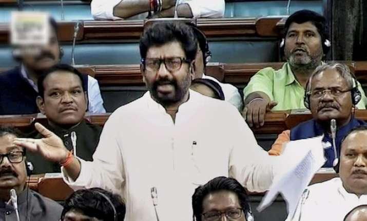 Shiv Sena MP Ravindra Gaikwad today made a brief statement