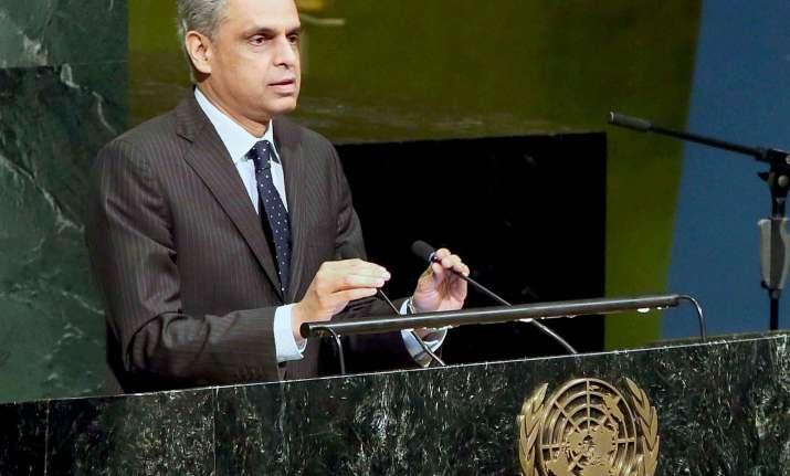 India's Permanent Representative to the UN Syed Akbaruddin